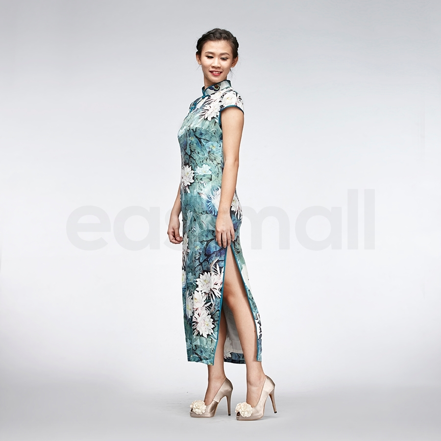 Picture of Green Silk Cheongsam