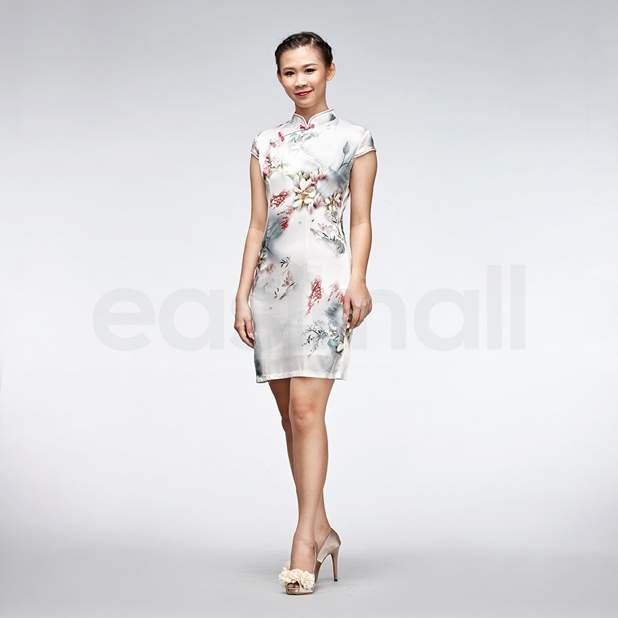 Picture of Flora painting cheongsam