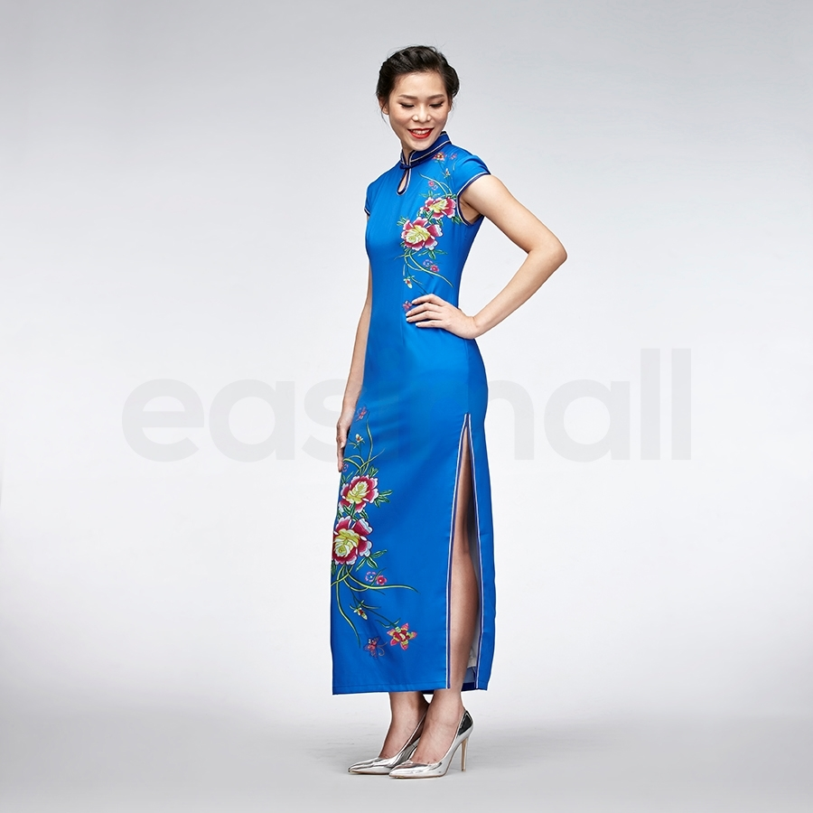 Picture of Blue Floral Cheongsam
