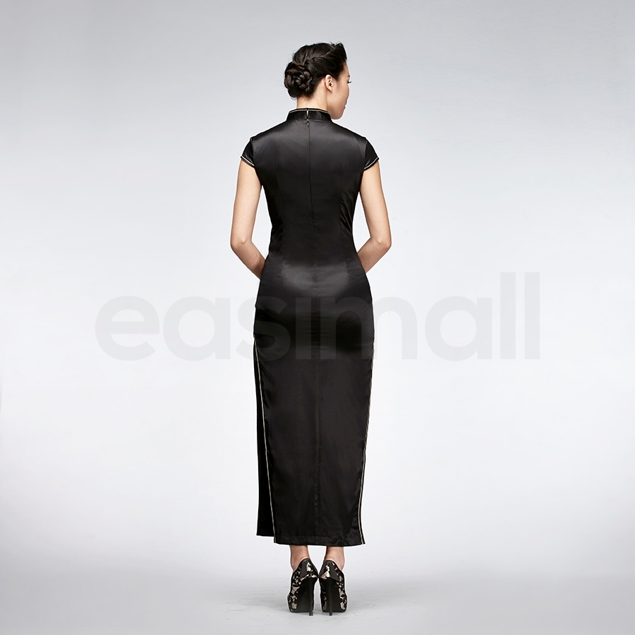 Picture of Floral Embroidered Silk Cheongsam