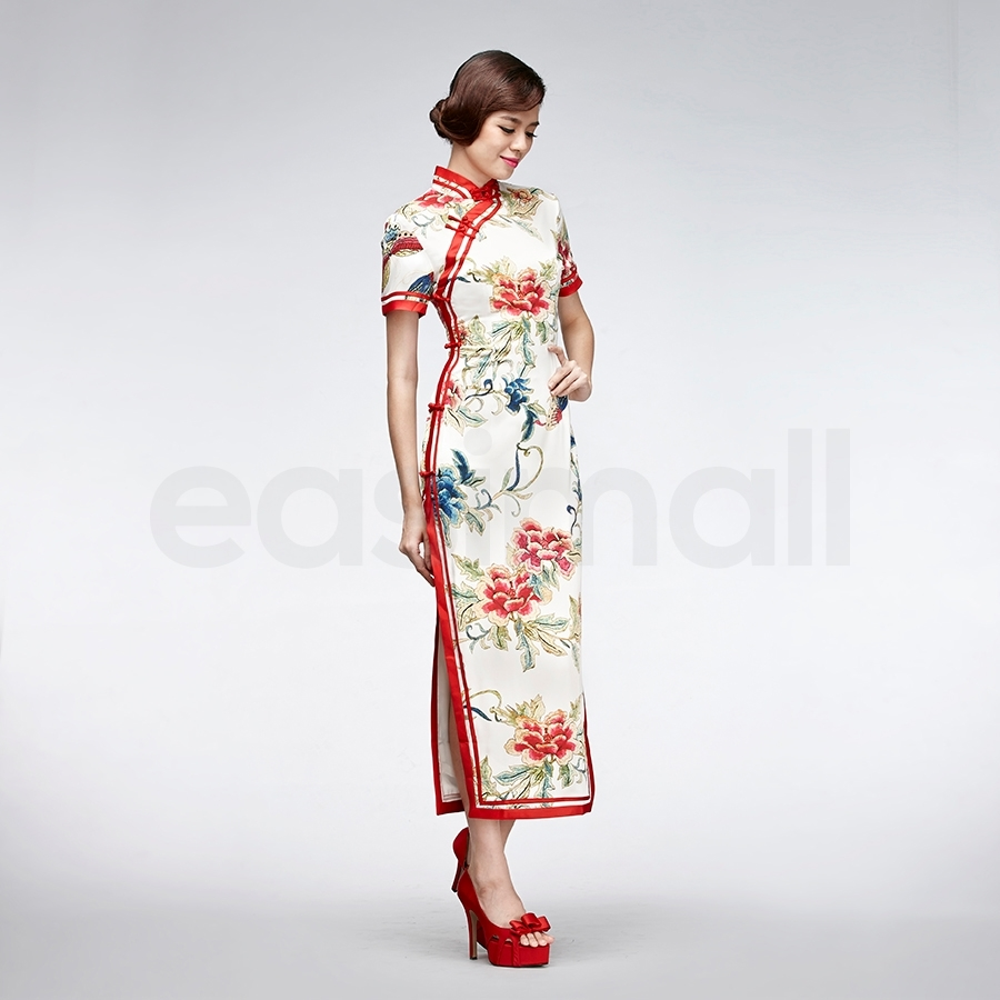 Picture of Red Floral Cheongsam