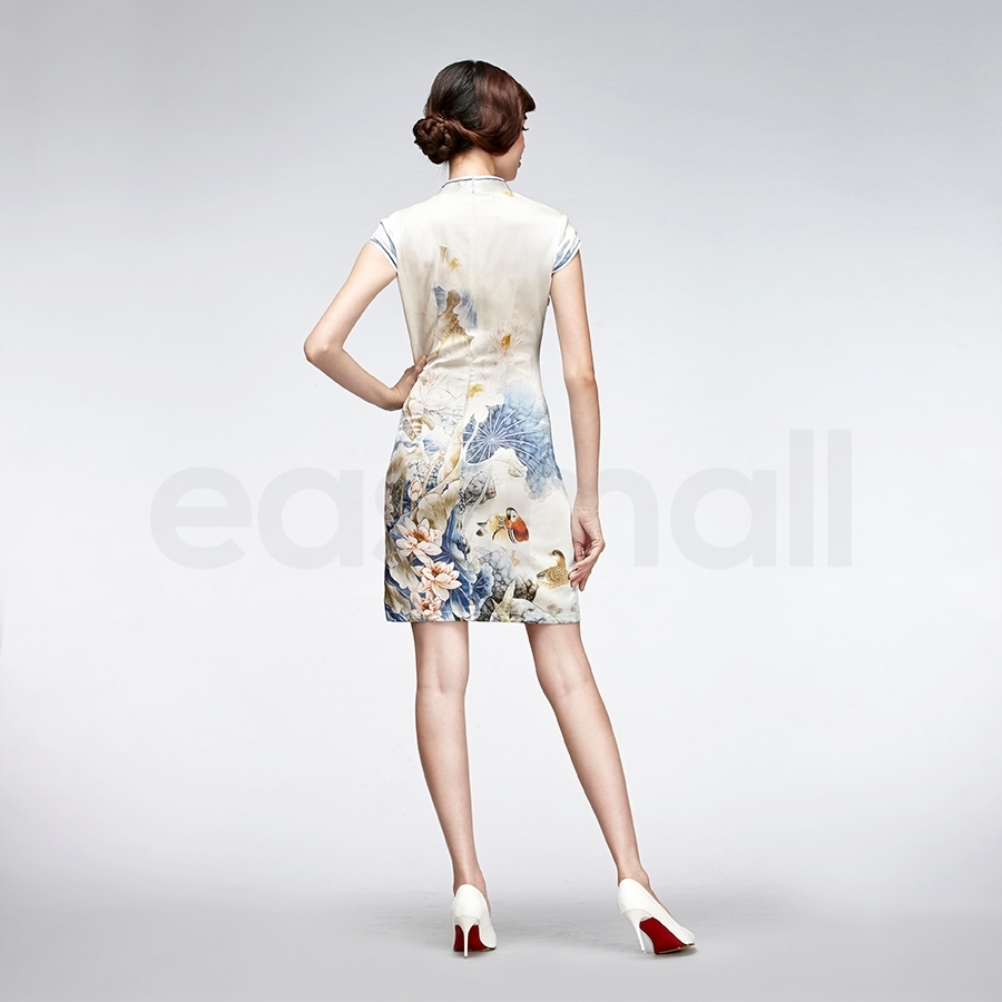 Picture of Bird And Floral Painting Cheongsam